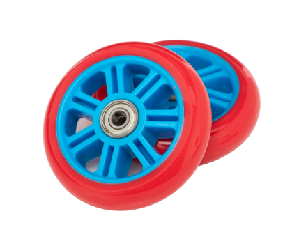 Berry 95mm Wheels w/ Bearings – Blue/Red