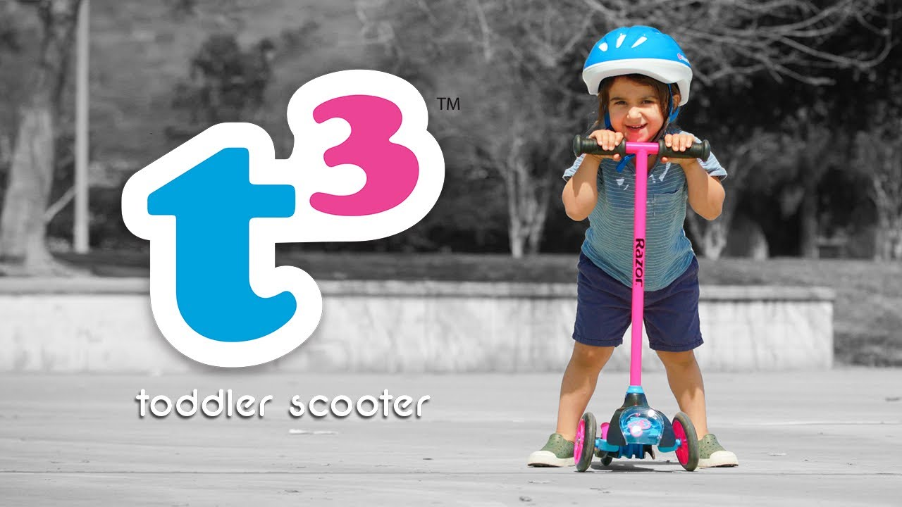 T3 Toddler Kick Scooter Ride Video