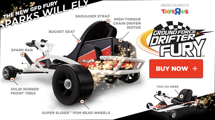New Razor Ground Force Drifter Fury-Sparks Will Fly!