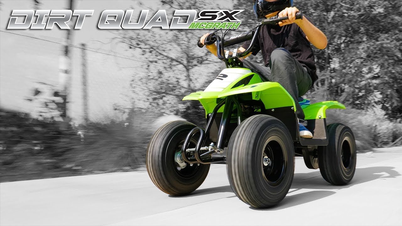 Razor Presents: Dirt Quad SX McGrath Electric Four Wheeler