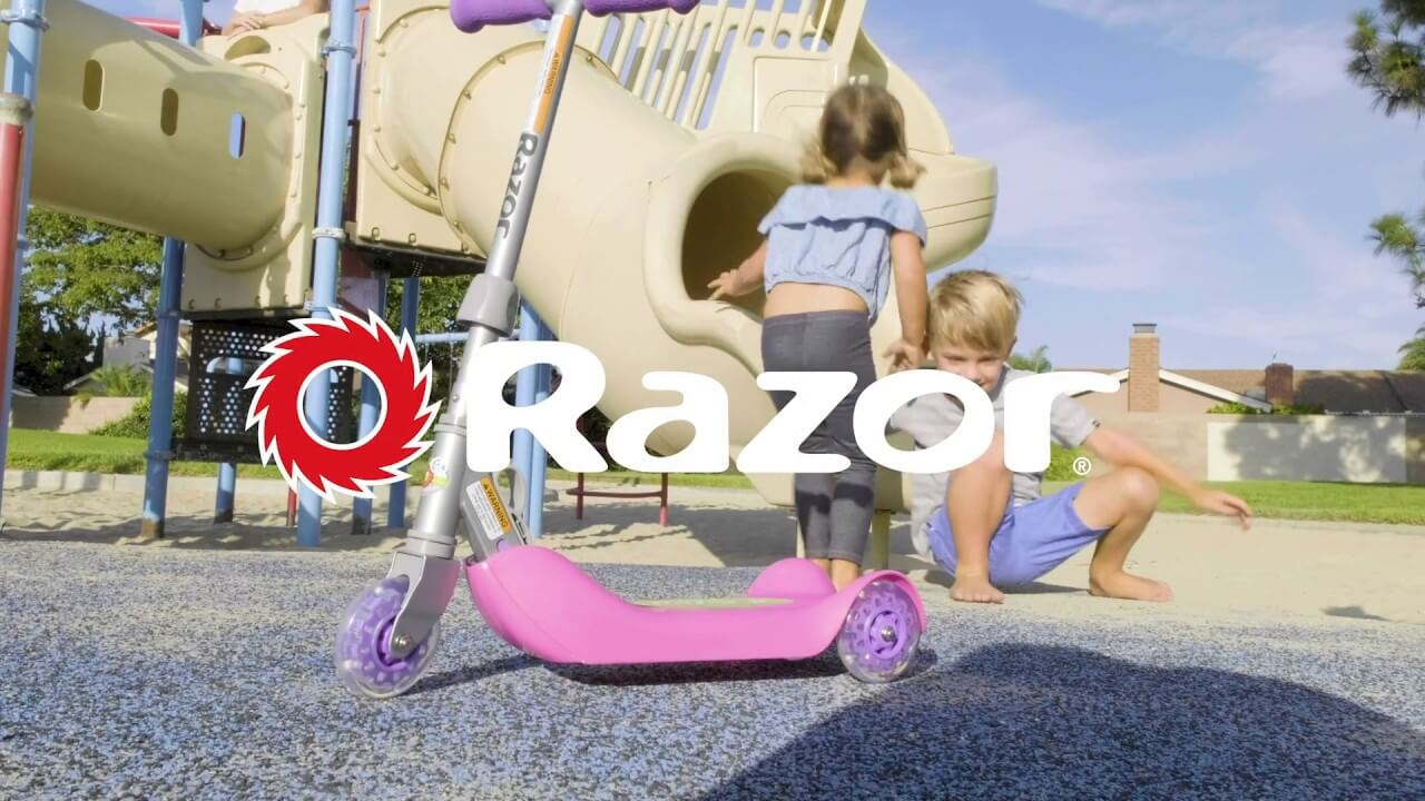 Razor Jr. Folding Kiddie Kick Scooter Ride Video